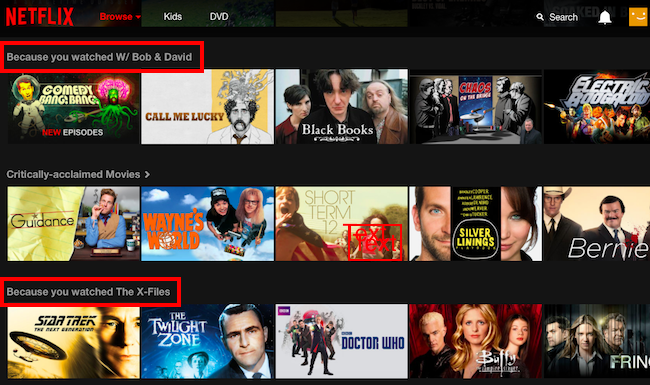 Netflix offers a highly personalized customer experience